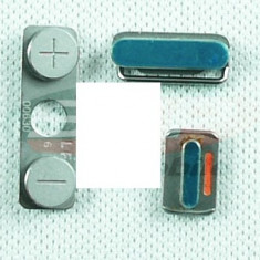 Buton metalic ON-OFF+ buton volum key iPhone 5/5s original - Buton on off