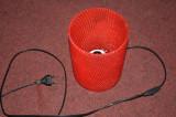 Abajur Lampa Lustra Veioza Sticla Rosie