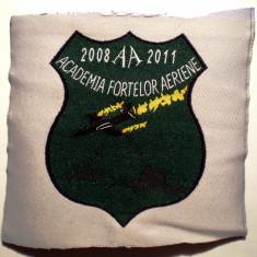 5.488 ROMANIA ECUSON MILITAR ARMATA AVIATIE AFA BRASOV 2008-2011 80/62mm VERDE