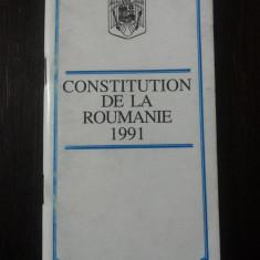 CONSTITUTION DE LA ROUMANIE 1991 - 1993, 79 p. - Carte Drept constitutional