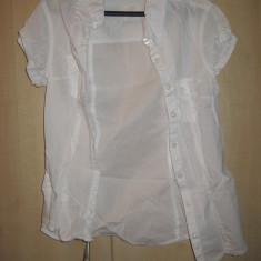 Camasa dama H&M (L.O.G.G.) 100% ORIGINALA Culoare Alba Marime S cumparata SUA, Marime: S, Maneca scurta, Casual, Bumbac