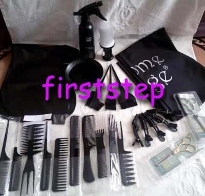 Set kit frizerie coafor COMPLET cu foarfeca profesionala tuns filat pelerina foto