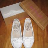 Pantofi mocasini dama SCHUH. originali,Culoare Alba, 39, 100% Piele naturala, UK