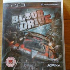 JOC PS3 BLOOD DRIVE SIGILAT ORIGINAL / STOC REAL in Bucuresti / by DARK WADDER - Jocuri PS3 Activision, Curse auto-moto, 16+, Single player