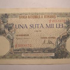 100000 lei 1946 Mai XF - Bancnota romaneasca