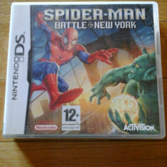 JOC NINTENDO DS SPIDER-MAN BATTLE FOR NEW YORK ORIGINAL / STOC REAL / by DARK WADDER - Jocuri Nintendo DS, Actiune, 12+, Single player