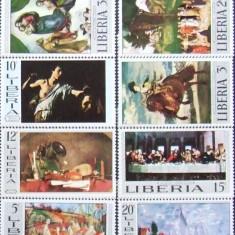 LIBERIA - PICTURA 8 VALORI, NEOBLITERATE - LIB 020