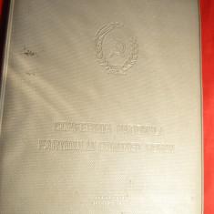 Mapa de Participant la Conferinta Nationala a PCR Bucuresti decembrie 1967, dim. 16, 5 x 21, 5 cm, plastic - Jubiliare