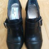Pantofi din piele marimea 39, sunt noi, nemtesti! - Pantof dama, Culoare: Negru, Piele naturala, Cu toc