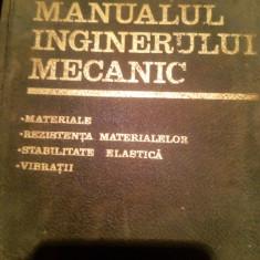 Manualul inginerului mecanic - Carte veche