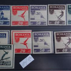 Mz320-1946-Organizatia Sportul popular Timbre-Romania-nestampilate