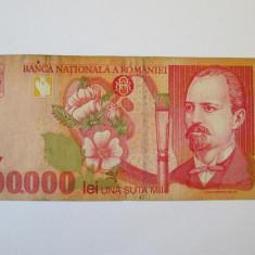 100 000 LEI 1998 - Bancnota romaneasca