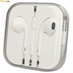 Casti iPhone 6 Plus MD827ZM/A albe - Handsfree GSM