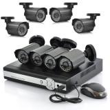 Kit sistem supraveghere 8 camere exterior DVR HDMI FULL D1 + 3G SMARTPHONE VIEW - Camera CCTV