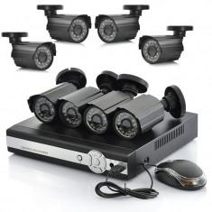 Kit sistem supraveghere 8 camere exterior DVR HDMI FULL D1 + 3G SMARTPHONE VIEW
