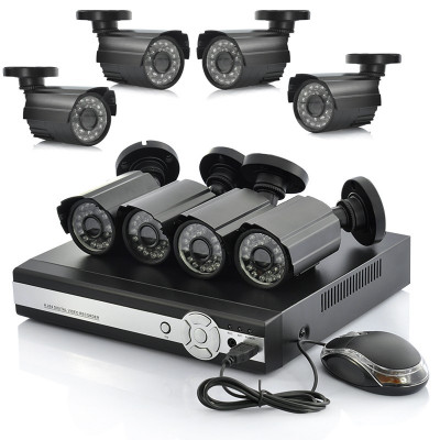 Kit sistem supraveghere 8 camere exterior DVR HDMI FULL D1 + 3G SMARTPHONE VIEW foto