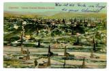 2692 - Prahova, CAMPINA, field of oil wells  - old postcard - used - 1914, Circulata