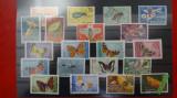 Timbre Romania-Lot Fluturi si alte insecte-F308