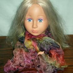 Esarfa dama multicolora din voal incretita - Esarfa, Sal Dama, Culoare: Din imagine, Marime: Marime universala, Matase