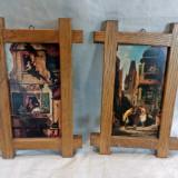 Set doua mici tablouti printate - reproduceri, vintage, antice decor - Reproducere