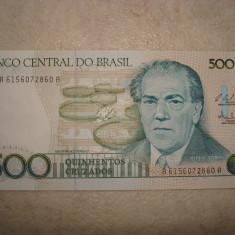 BANCNOTA BRAZILIA 500 CRUSADOS UNC - bancnota america