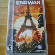 JOC PSP TOM CLANCY's END WAR ORIGINAL / STOC REAL / by DARK WADDER - Jocuri PSP Ubisoft, Strategie, 12+, Single player