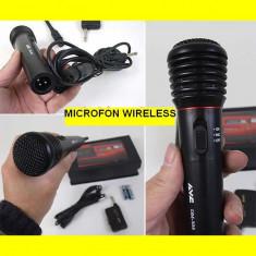 Microfon WIRELESS si cu fir karaoke, gradinita, etc LIPSA STOC