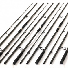 SET 4 lansete SUPER CARP, 3, 6m, 4LBS din 3 tronsoane, carbon 80% - Lanseta, Numar elemente: 3