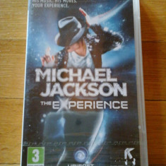 JOC PSP MICHAEL JACKSON THE EXPERIENCE SIGILAT ORIGINAL / STOC REAL / by DARK WADDER - Jocuri PSP Ubisoft, Simulatoare, 3+, Single player