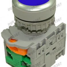 Comutator fara retinere, 2 contacte, albastru-125044