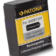 PATONA | Acumulator pt AHDBT 201 AHDBT 301 pentru GoPro HD HERO 3 1180 mAh