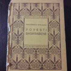POVESTI BASARABENE -- Alese de S. Teodorescu-Kirileanu -- 1922, 183 p. - Carte de povesti