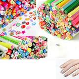 Batoane fimo pentru unghii, diverse modele, set de 10 batonase Nail Art 3D - Model unghii
