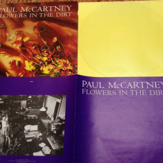PAUL McCARTNEY - FLOWERS IN THE DIRT(1989/ EMI REC/HOLLAND)-gen:ROCK-VINIL/VINYL - Muzica Rock emi records