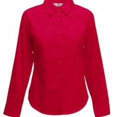 Camasa FRUIT OF THE LOOM Poplin Red - Camasa dama, Marime: XS, S, M, L, XL, XXL, Office, Bumbac