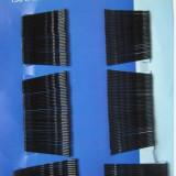 Agrafe pentru par, negre din metal set de 200 buc