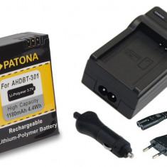 PATONA| Incarcator + Acumulator pt GoPro HD Hero 3 AHDBT 201 AHDBT 301 AHDBT 302