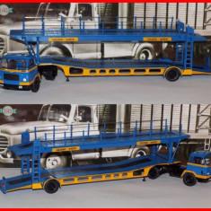 1960 - Macheta camion auto trailer UNIC MZ36 TCA (scara 1/43) - Macheta auto