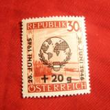 Serie - 1 An ONU 1945 Austria, 1 val. supratipar