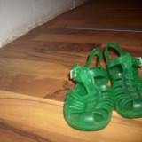 Sandale plastic fetite m25 - Sandale copii, Culoare: Verde, Fete, Cauciuc