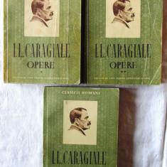 OPERE - 3 vol., Vol. I +II +III, I. L. Caragiale, 1952. Colectia CLASICII ROMANI - Carte Teatru