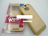 Toc FlipCover EasyView WOW HTC One (M8) GOLD, HTC One M8, Auriu, Piele Ecologica
