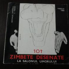 101 ZAMBETE DESENATE LA SALONUL UMORULUI [caricatura] - Manone Auleanu - 1984