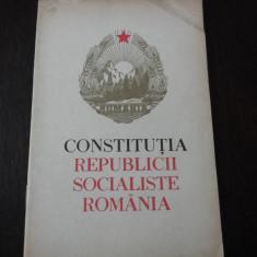 CONSTITUTIA REPUBLICII SOCIALISTE ROMANIA -- 1965, 30 p. - Carte Drept constitutional