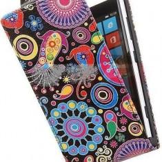 Toc FlipCase Jelly Fish LG Optimus L5 II E460 - Husa Telefon LG, Piele Ecologica