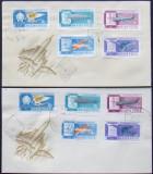 UNGARIA - ISTORIA AVIATIEI, 2 FDC-URI, DANTELAT SI NEDANTELAT - IM 0324