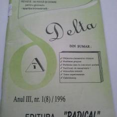 DELTA - REVISTA DE FIZICA SI CHIMIE PENTRU GIMNAZIU - D. TURCITU ( 1021 + 1020 ) - Revista scolara