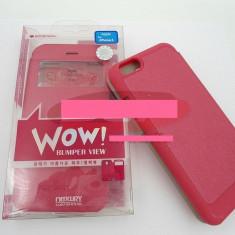 Toc FlipCover EasyView WOW Apple iPhone 6 ROZ - Husa Telefon Apple, iPhone 6 Plus, Piele Ecologica