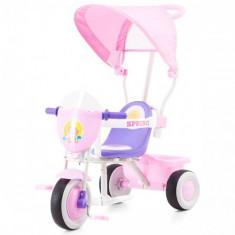 Tricicleta cu Copertina Spring Pink - Tricicleta copii Chipolino
