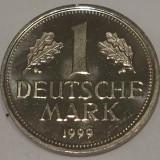 G5. GERMANIA RFG 1 MARK MARCA 1999 F, 5.5g, Cu-Ni, 23.5 mm PROOF AUNC / UNC **, Europa